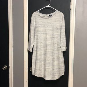 GAP 3/4 Sleeve Midi Shift Dress